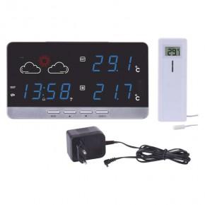 Termometry-i-stacje-pogodowe - bezprzewodowa stacja meteorologiczna biała z czujnikiem 30m e5201 emos