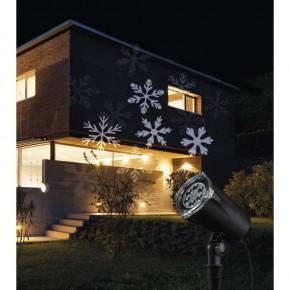 Ozdobne-oswietlenie-do-ogrodu - projektor led białe śnieżynki ip44 4w zy1936 emos