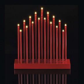 Latarenki-ogrodowe - świecznik na baterie w kolorze czerwonym z timerem 3xaa zy2109 emos