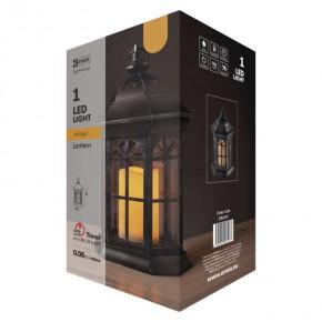 Latarenki-ogrodowe - czarny lampion świąteczny led ze świecą na baterie 3xaaa zy2117 emos