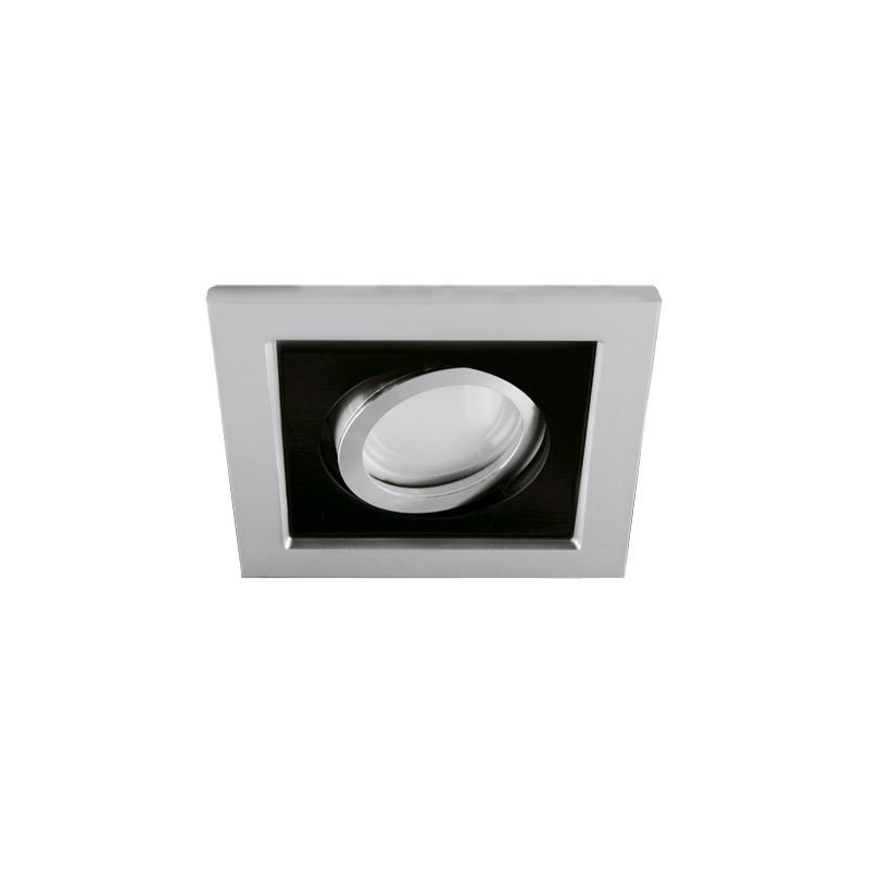 Oprawy-sufitowe - sufitowa oprawa punktowa srebrno czarna borys d 03139 ideus firmy IDEUS - STRUHM