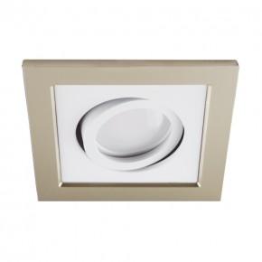 Oprawy-sufitowe - punktowa oprawa sufitowa beżowo-biała borys d 03220 ideus