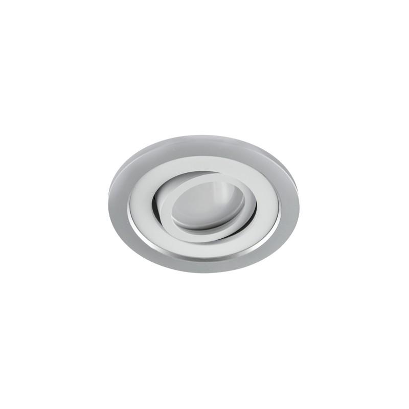 Oprawy-sufitowe - ruchome oczko podtynkowe srebrno-białe borys c 03225 ideus firmy IDEUS - STRUHM