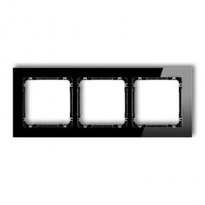 Potrójna ramka czarna efekt szła 12-12-DRS-3 DECO KARLIK