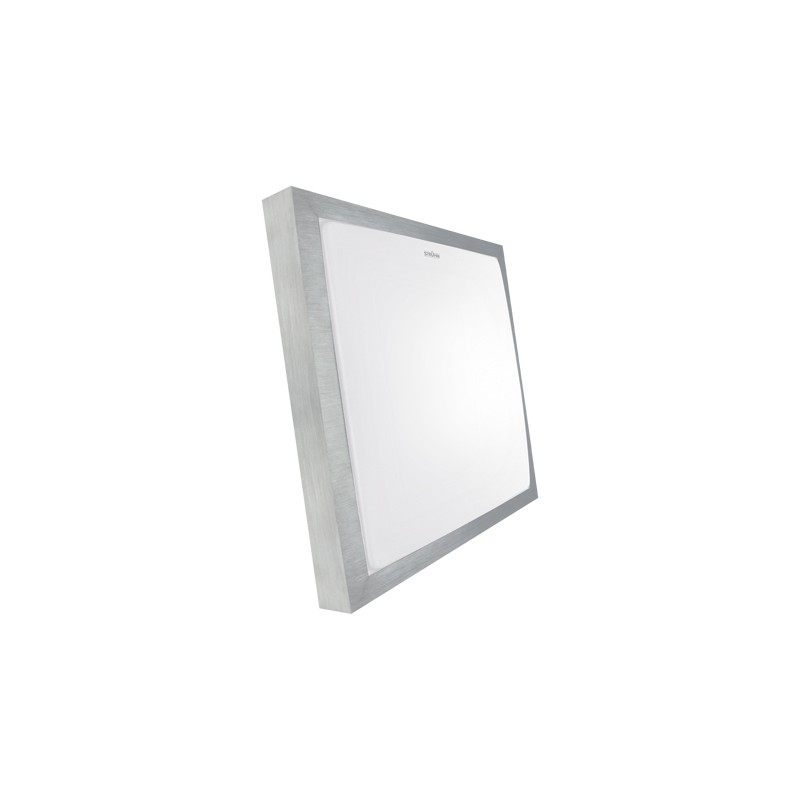 Plafony - srebrna plafoniera smd led alex led d 24w 4000k 03245 ideus firmy IDEUS - STRUHM