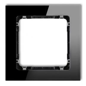 Ramka pojedyncza czarna efekt szkła 12-12-DRS-1 DECO KARLIK