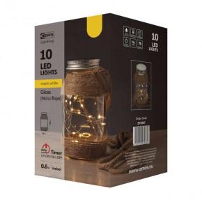Oswietlenie-choinkowe - dekoracyjny świąteczny słoik led na baterie z timerem 2xaa zy2097 emos