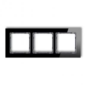 Potrójna ramka z efektem szkła czarna/grafit 12-11-DRS-3 DECO KARLIK