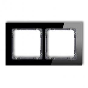 Podwójna ramka czarna/grafit efekt szkła 12-11-DRS-2 DECO KARLIK