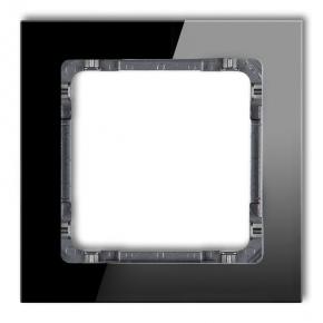 Ramka pojedyncza czarna/grafit efekt szkła 12-11-DRS-1 DECO KARLIK