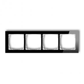 Poczwórna czarna/biała z efektem szkła ramka 12-0-DRS-4 DECO KARLIK