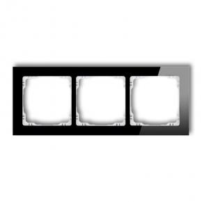 Czarna/biała ramka potrójna 12-0-DRS-3 DECO KARLIK