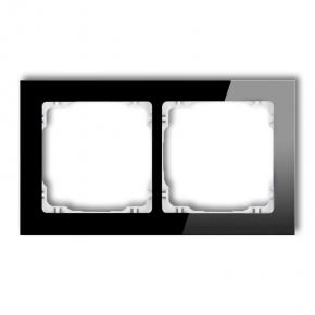 Podwójna ramka czarna/biała efekt szkła 12-0-DRS-2 DECO KARLIK