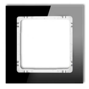 Pojedyncza ramka czarna/biała z efektem szkła 12-0-DRS-1 DECO KARLIK
