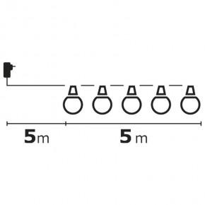 Oswietlenie-choinkowe - girlanda świetlna led mleczne żaróweczki 5m ip44 10x5led 2,25w zy1939 emos