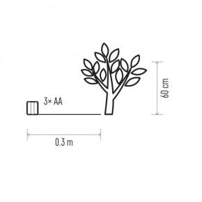 Oswietlenie-choinkowe - dekoracje - 24 led gałązki ip20 3× aa, ww, timer /kpl. 3 szt emos - 1534213500
