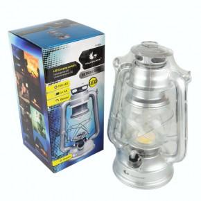 Latarenki-ogrodowe - lampa turystyczna srebrna fcl0024 retro ii led 58 lm 4xaa mactronic