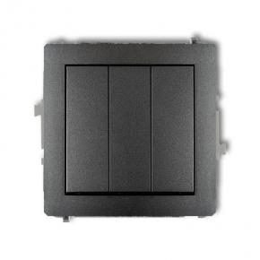 Grafitowy włącznik potrójny 11DWP-7 DECO KARLIK