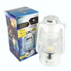 Latarenki-ogrodowe - lampka turystyczna led biała lampka naftowa fcl0025 retro ii led 58lm 4xaa mactronic