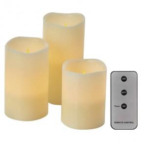 Oswietlenie-choinkowe - okrągłe dekoracyjne świece led na baterie z pilotem+timer 9xaaa zy2143 emos