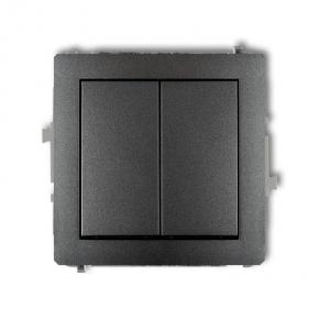Grafitowy mechanizm włącznika dwubiegunowego 11DWP-44.2 DECO KARLIK