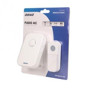 Dzwonki-do-drzwi - dzwonek bezprzewodowy 230v z learning system fado ac or-db-kf-135 orno
