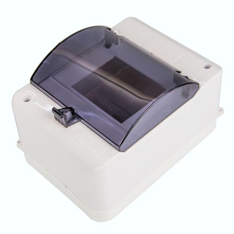Skrzynki-elektryczne - obudowa bezpiecznikowa 5 modułowa z zerem i klapką ob-5zzk karlik firmy Karlik