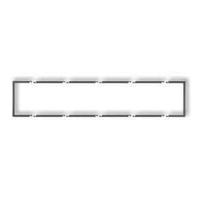 Pięciokrotna ramka wypełniająca grafitowa 11DRW-5 DECO KARLIK