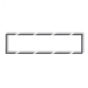 Poczwórna ramka wypełniająca grafitowa 11DRW-4 DECO KARLIK