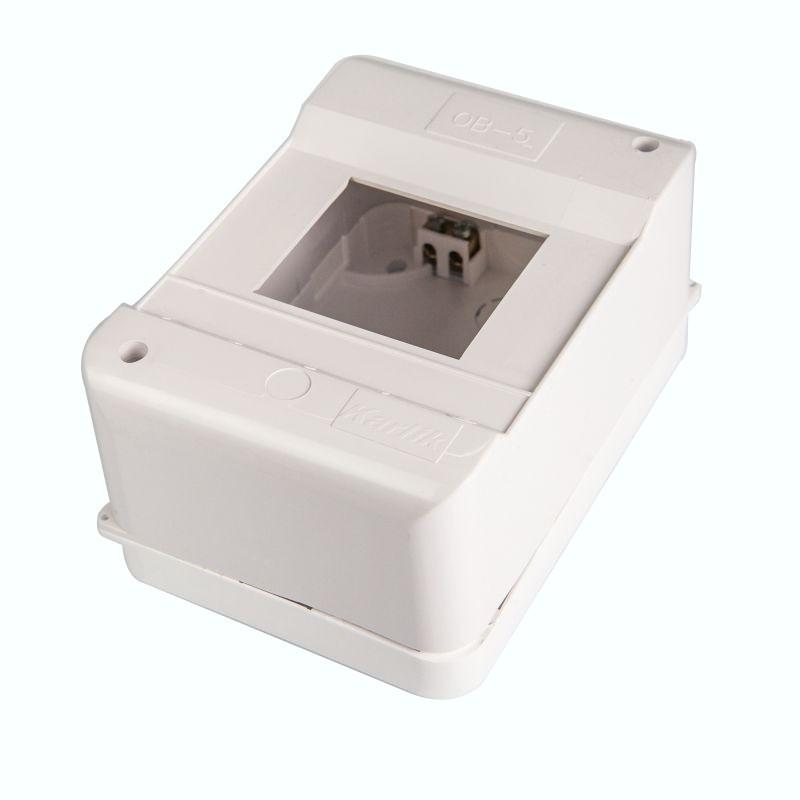 Skrzynki-elektryczne - obudowa bezpiecznikowa 5 modułowa z uziemieniem ob-5zz karlik firmy Karlik