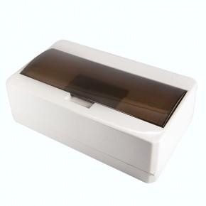 Skrzynki-elektryczne - skrzynka rozdzielcza biała z klapką na bezpieczniki 12 modułów s-12/k abex