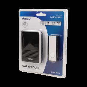 Dzwonki-do-drzwi-bezprzewodowe - dzwonek bezprzewodowy świecący 230v z learning system calypso ac or-db-qs-113 orno