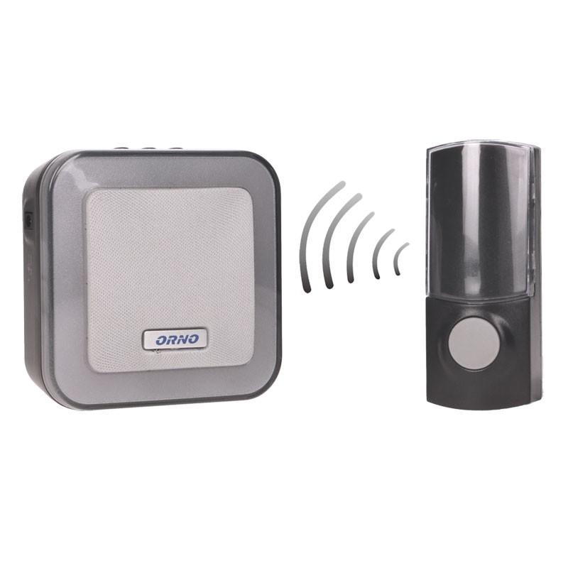 Dzwonki-do-drzwi-bezprzewodowe - dzwonek bezprzewodowy na baterie z learning system enka dc or-db-at-136 orno firmy ORNO