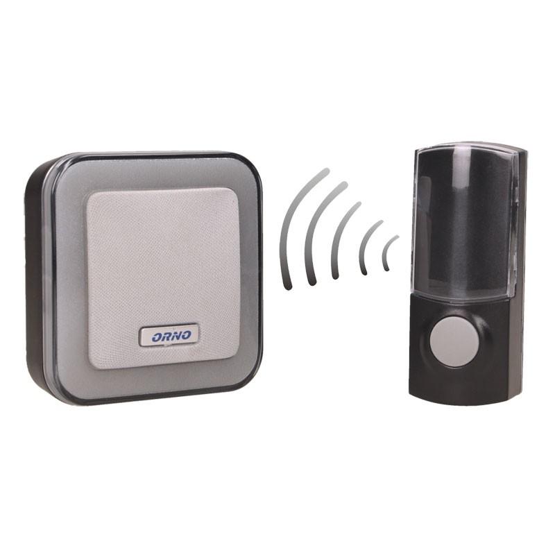 Dzwonki-do-drzwi-bezprzewodowe - dzwonek bezprzewodowy sieciowy enka ac z learning system or-db-at-137 orno firmy ORNO