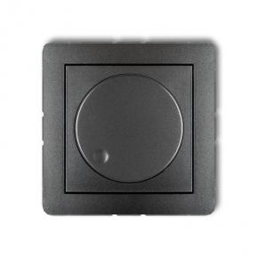 Grafitowy ściemniacz przyciskowo-obrotowy 11DRO-1 DECO KARLIK