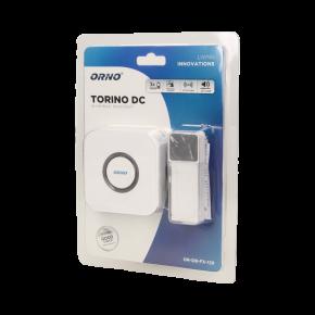 Dzwonki-do-drzwi-bezprzewodowe - dzwonek bezprzewodowy bateryjny z learning system torino dc  or-db-fx-129 orno