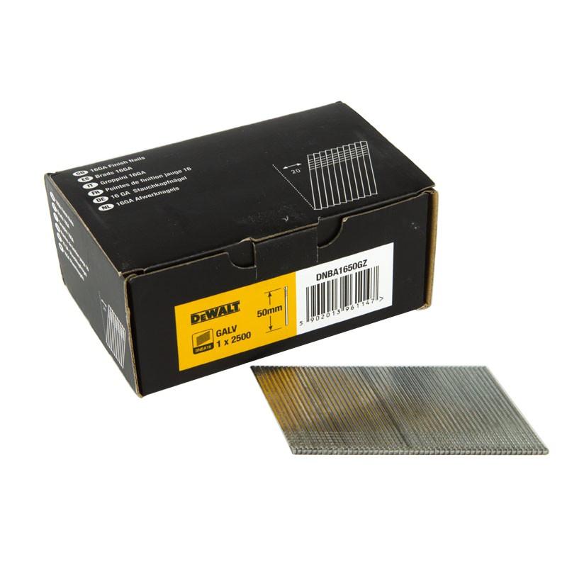Elektronarzedzia - gwoździe galwanizowane 16ga do magazynka nachylonego 20° 50mm dnba1650gz dewalt firmy DeWalt