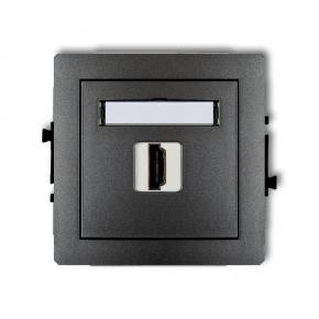 Grafitowe gniazdo HDMI 11DHDMI-1 DECO KARLIK