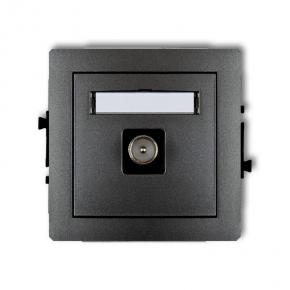 Mechanizm gniazda antenowego grafitowego TV 11DGTV-1 DECO KARLIK