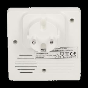 Dzwonki-do-drzwi - dzwonek bezprzewodowy do drzwi 230v z learning system i bezbateryjnym przyciskiem smartek ac or-db-lt-126 orno