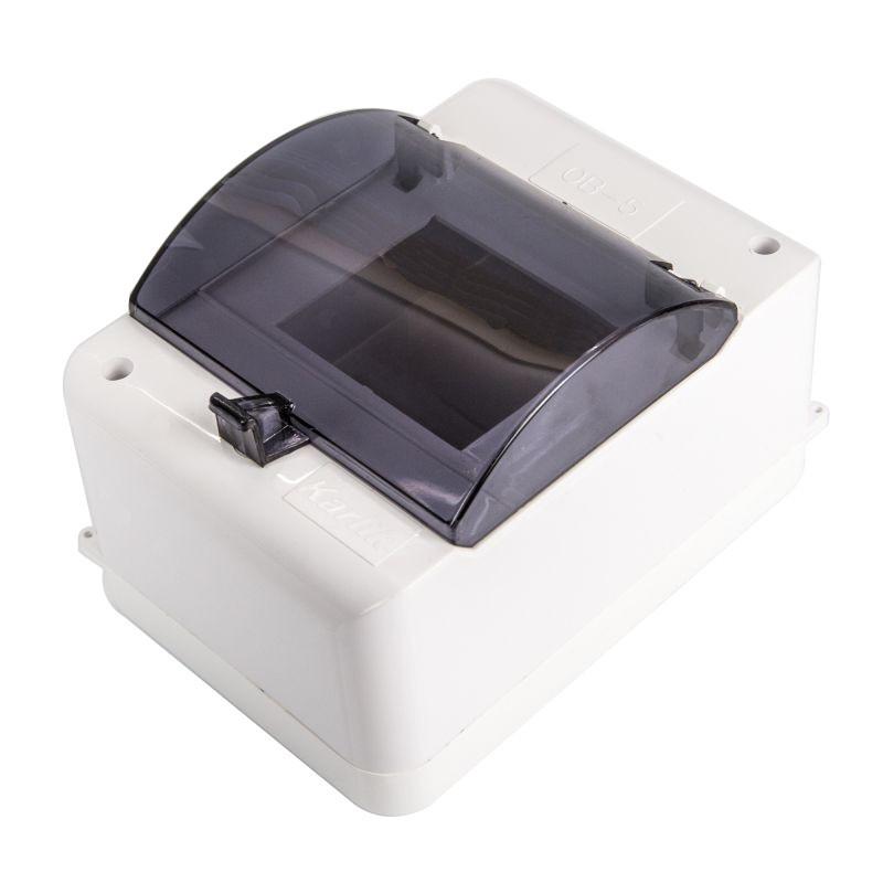 Skrzynki-elektryczne - skrzynka na bezpieczniki z klapką biała 5 modułowa ob-5k karlik firmy Karlik