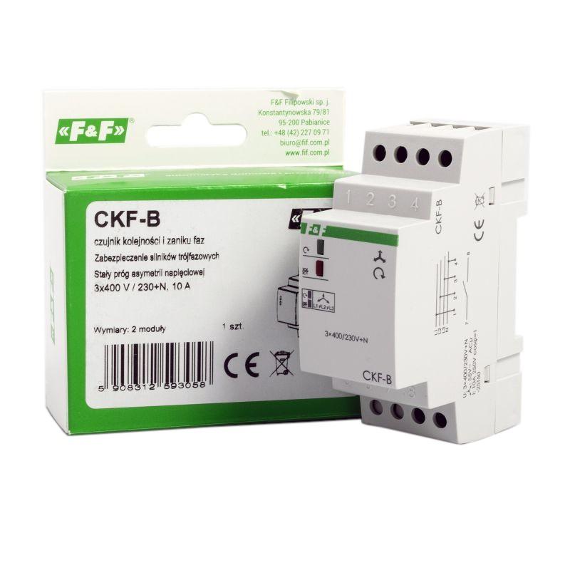 Przekazniki-kontroli-faz - czujnik kolejności i zaniku fazy ckf-b ts35 f&f firmy F&F