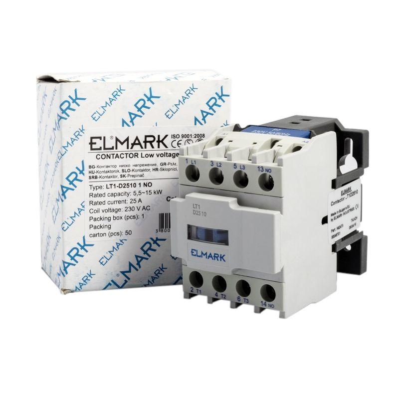 Styczniki - stycznik niskiego napięcia lt1-d2510 25a 230 v elmark firmy ELMARK