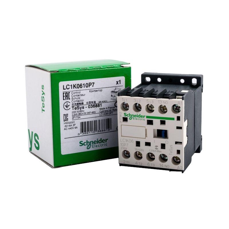 Styczniki - lc1k0610p7 stycznik trójbiegunowy 3no 6 a 230 v ac schneider electric firmy Schneider Electric