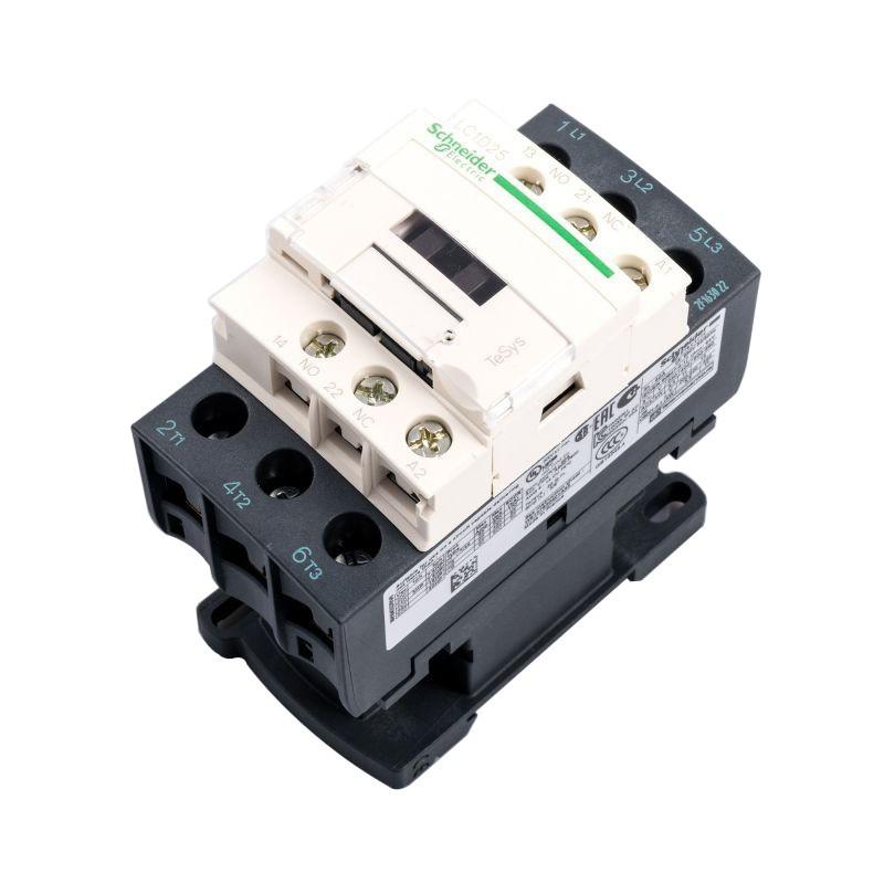 Styczniki - stycznik trójfazowy schneider electric lc1d25p7 25a/230vz firmy Schneider Electric