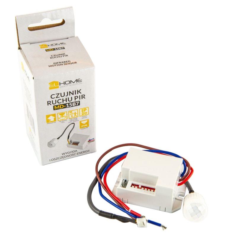 Czujniki-ruchu - czujnik ruchu miniaturowy biały md-15b7 home safety solution firmy Home Safety Solution