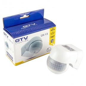 Czujniki-ruchu - czujnik ruchu biały wewnętrzny 800w ip44 12m cr-13 lighting gtv