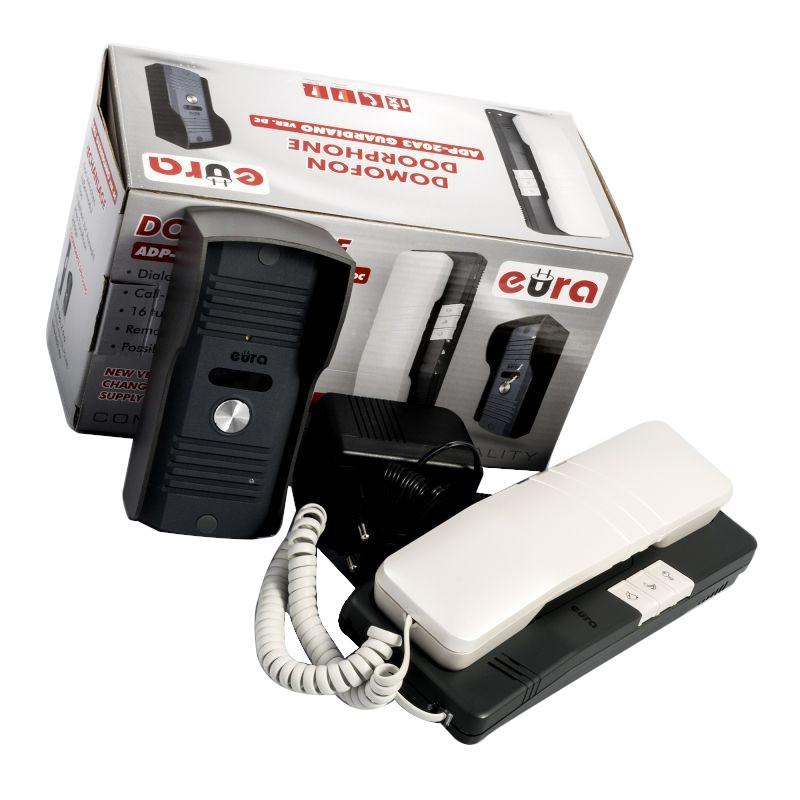 Domofony - prosty domofon eura słuchawkowy adp-20a3 guardiano nowa wersja firmy EURA TECH