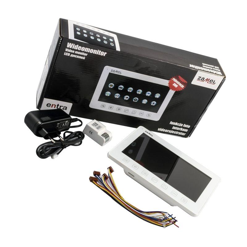 Wideodomofony-zamel - vp-729w wideomonitor z dotykowym kolorowym wyświetlaczem 7 cali biały zamel firmy ZAMEL