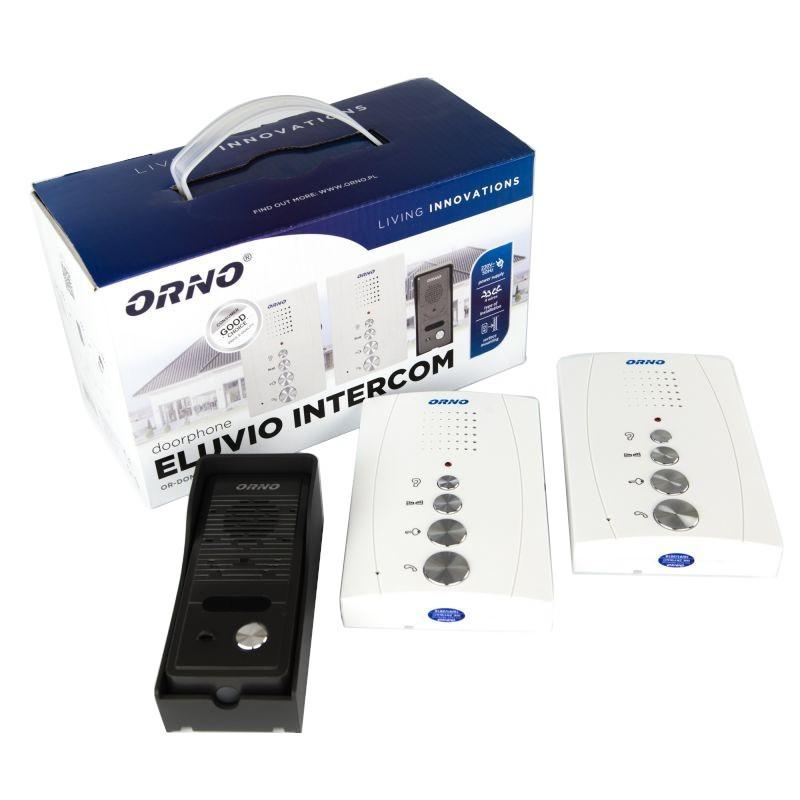 Domofony - zestaw domofonowy z interkomem bezsłuchawkowy eluvio intercom or-dom-re-920/w orno firmy ORNO